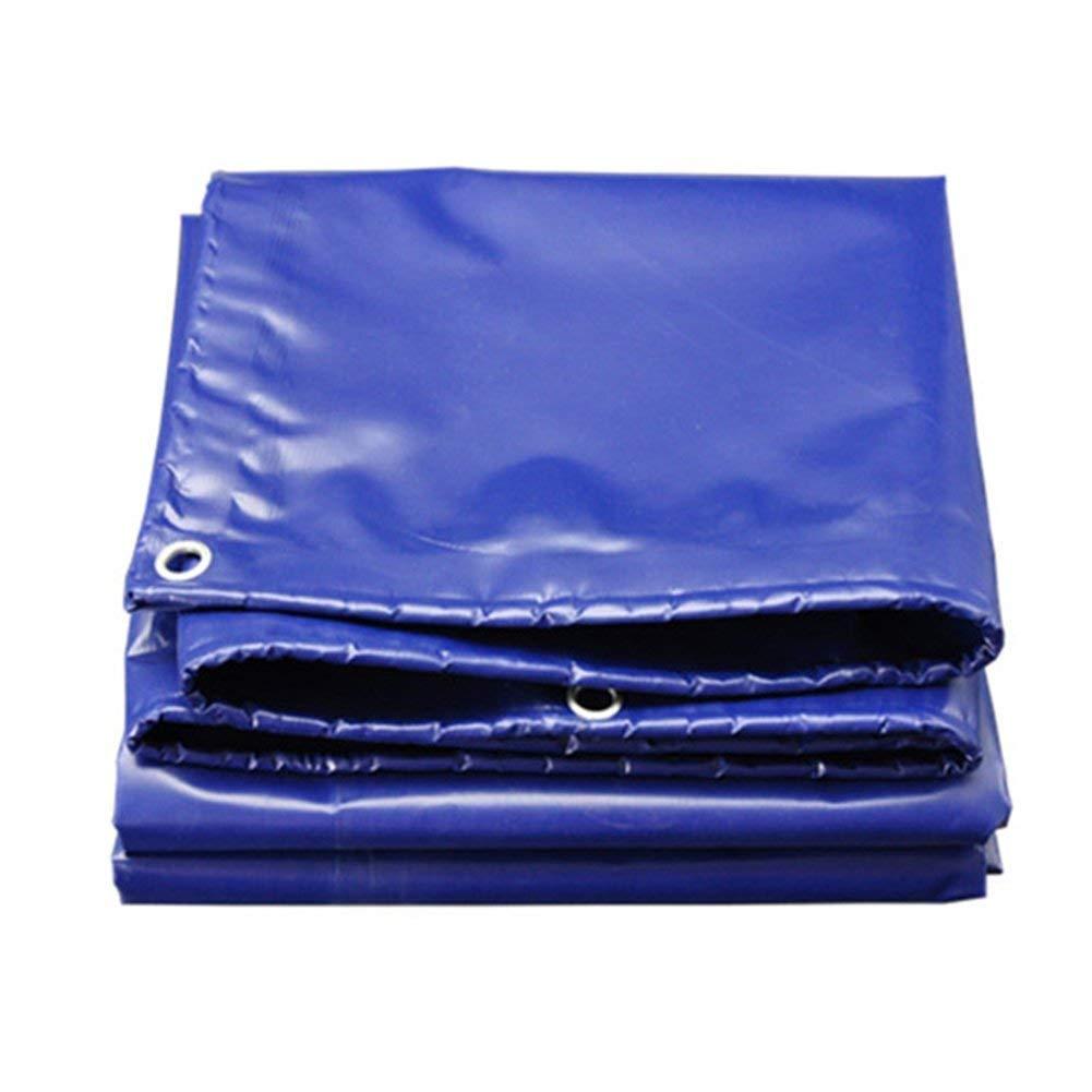 TOOSD Plane, Schutzschuppentuch, Verdickungsbodenplane Plane, Aluminiumösen, 550 G   M2, Farbe Blau