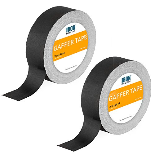 Black Gaffers Tape Two Pack - 2 Inch x 30 Yards Gaffer Tape Roll