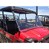 A&S AUDIO AND SHIELD DESIGNS 2015-2018 KAWASAKI MULE PRO-FX ,PRO-FXT, PRO-DX, PRO-DXT FULL WINDSHIELD