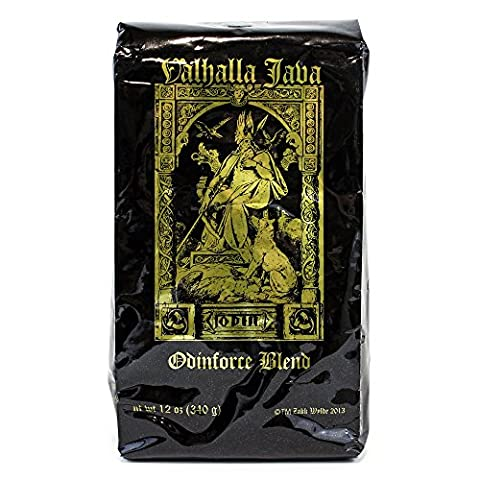Valhalla Java Ground Coffee by Death Wish Coffee Company, USDA Certified Organic & Fair Trade (12 Ounce - Caffeine Free Coffee