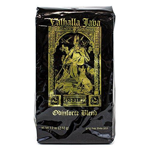 Valhalla Java Ground Coffee by Death Wish Coffee Company, USDA Certified Organic & Fair Trade (12 Ounce Bag)