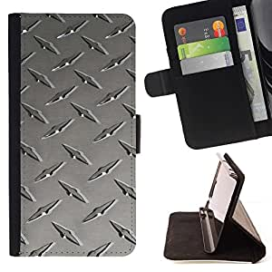 """Metal de uñas textura"""" Colorida Impresión Funda Cuero Monedero Caja Bolsa Cubierta Caja Piel Id Credit Card Slots Para Sony Xperia Z3 D6603"""