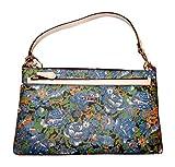 Coach Rose Meadow Pop Pouch Wristlet Handbag, Blue Multi