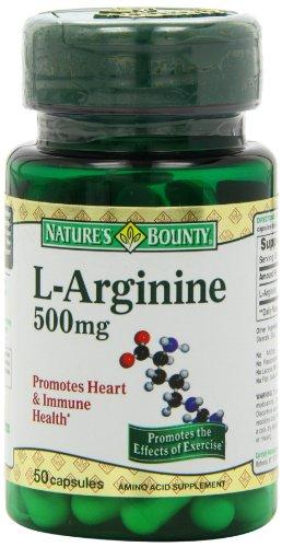 Bounty L-Arginine de la nature 500mg, 50 Capsules (Pack de 4)
