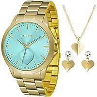 Relógio Lince Feminino Ref: Lrgj097l Kw18a1kx Dourado + Semijóia