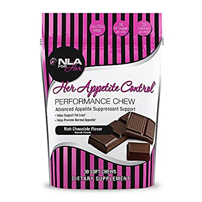 NLA for Her - Her Appetite Control Performance Chew - Advanced Appetite Suppressant Support - Rich Chocolate - 30 Soft Chews