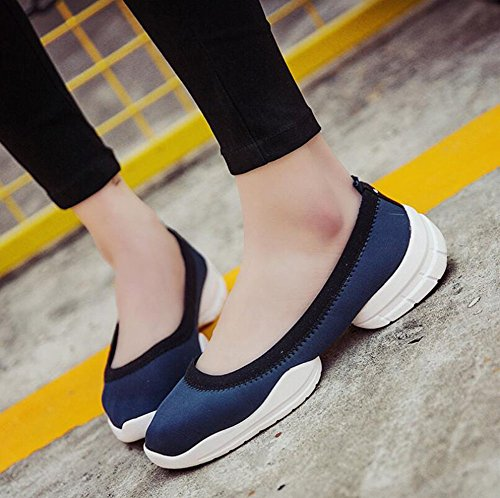 Color Women's Elasticity Breathable Size Sneakers Flat Shoes Top E Ladies Running Slip HUAN Walking ONS amp; 37 Loafers Shoes Lightweight Low Loafers UqdWgwv0