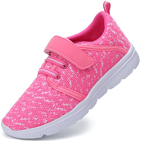 Dear-Queen Toddler's Lightweight Sneakers Boy's & Girl's Kid's Cute Casual Sport Shoes DQ1233P-28