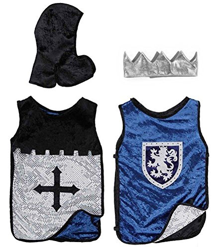 Creative Education Reversible King Knight Set, Black/Blue