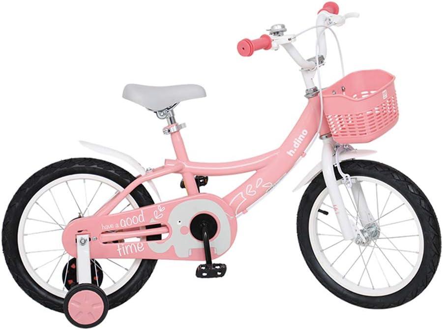 Bicicleta para niños Fantasy Princess Powder 14 Pulgadas / 16 Pulgadas Bicicleta de 3 a 7 años, Recomendada para Instalar, Ahorrar Tiempo y Esfuerzo