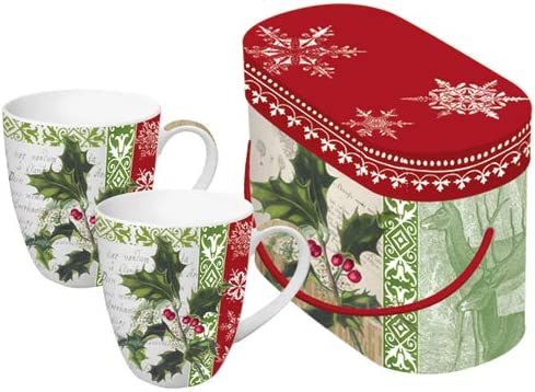 Paperproducts Design Holly Woods 8-1//2-Ounce Mug Set of 2