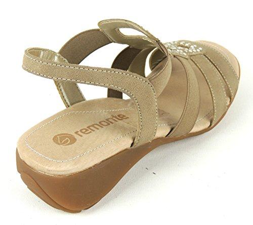 Remonte Dorndorf R5252-60 - Sandalias de vestir de Material Sintético para mujer Beige beige 37 Beige