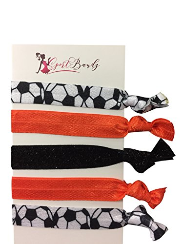 Infinity Collection Soccer Hair Accessories, Soccer Hair Ties, No Crease Soccer Hair Elastics Set