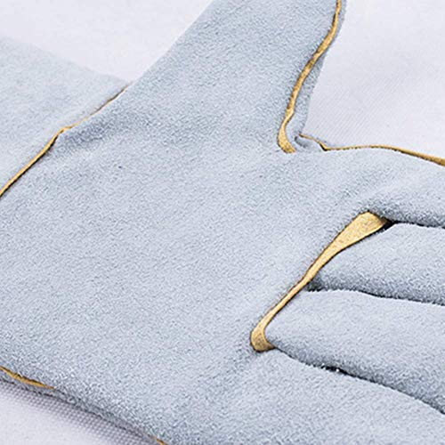 IRVING Electric welding, durable, heat-insulating, wear-resistant, breathable, fire-resistant gloves, high temperature, long argon arc welding, durable (Design : Style one) by IRVING (Image #3)