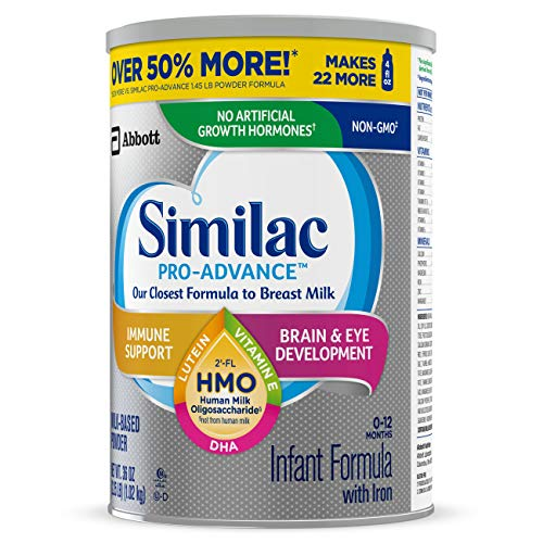 Similac Pro-Advance Non-GMO Infant Formula with Iron, with 2'-FL HMO, for Immune Support, Baby Formula, Powder, 36 oz, 3 Count (One-Month Supply) by Similac (Image #12)