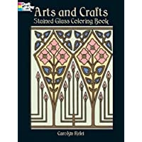 Arts and Crafts Stained Glass Coloring Book