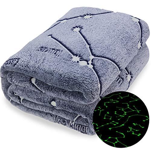 Kanguru Glow in The Dark Constellation Blanket, Christmas Thanksgiving Blanket Gifts for Birthday Kids Women Girls Boy…