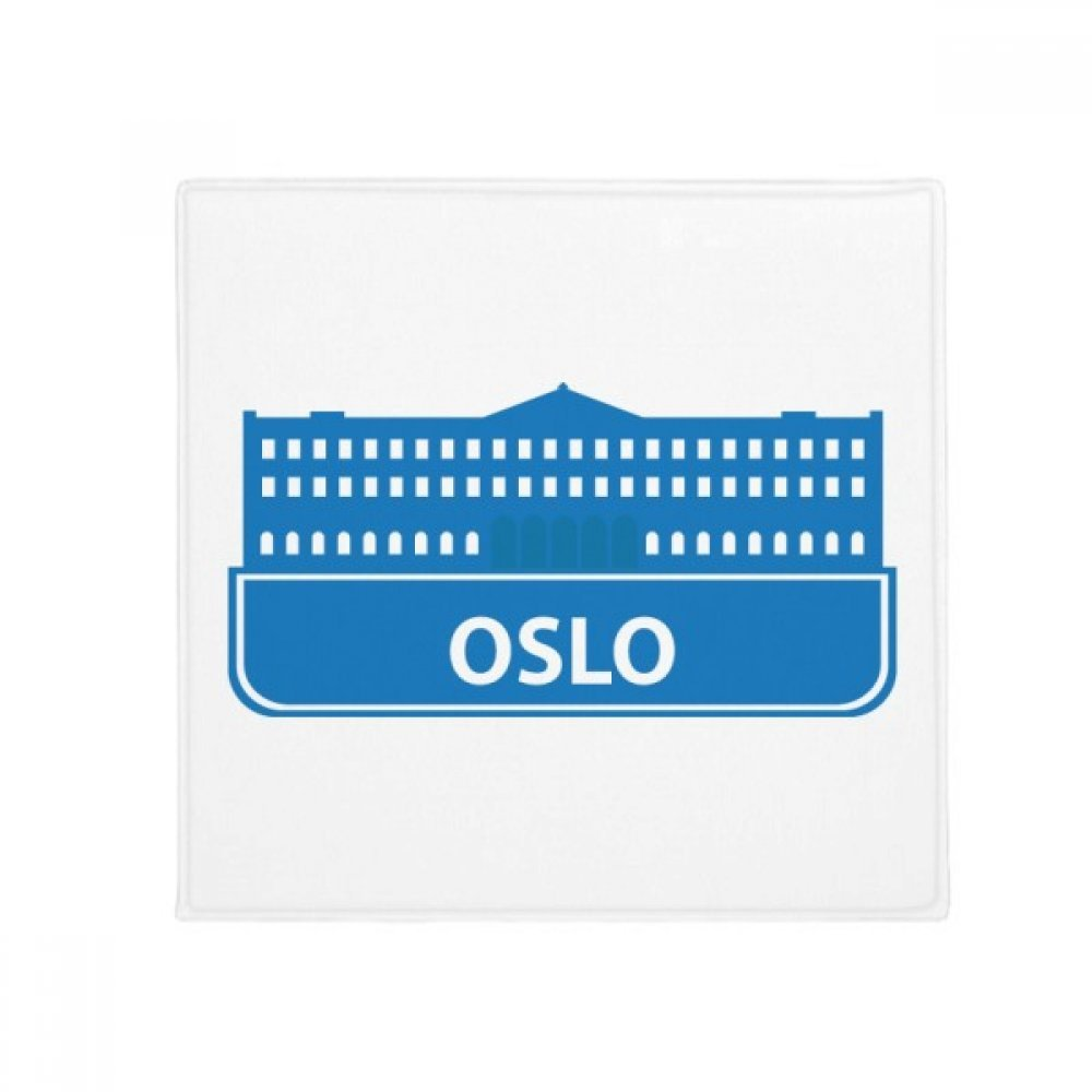 DIYthinker Oslo Norway bluee Landmark Pattern Anti-Slip Floor Pet Mat Square Home Kitchen Door 80Cm Gift