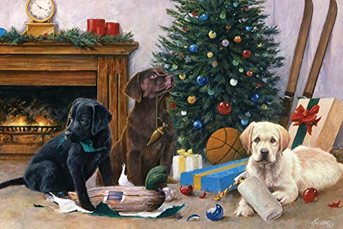 (Christmas Dogs Pups Labs 24