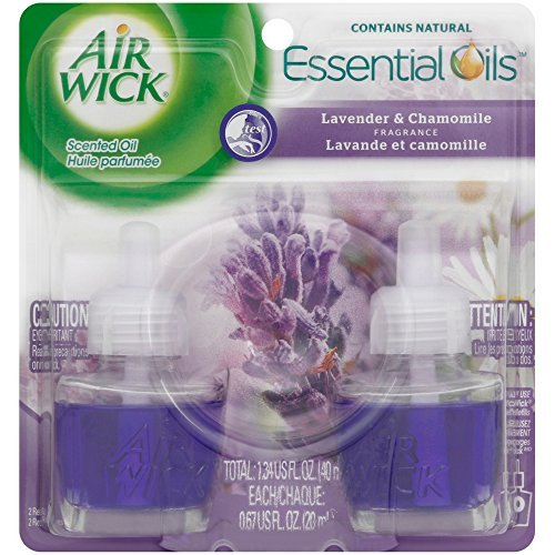 Air Wick Scented Oil Air Freshener, Lavender and Chamomile, Twin Refills, 0.67 Ounce (Pack of 3)