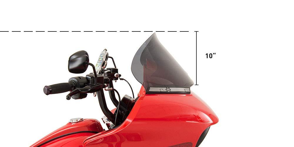 KLOCK Werks Flare Windshield for 2015 to 2019 Harley Davidson Road Glide 12'' Dark Smoke 2310-0584