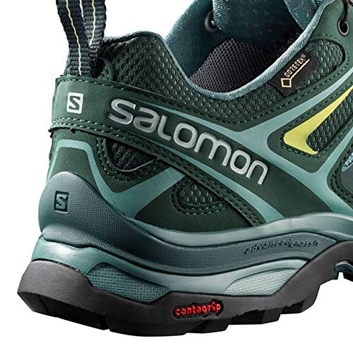 Salomon X Ultra 3 GTX Hiking Boot - Womens, Artic/Darkest Spruce/Sunny Lime, Wide, 6, L40661000-6 by Salomon (Image #3)