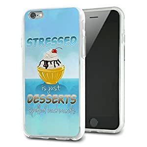 Stressed is just Desserts Spelled Backwards Slim Fit Hybrid Case Fits Apple iPhone 6 Plus
