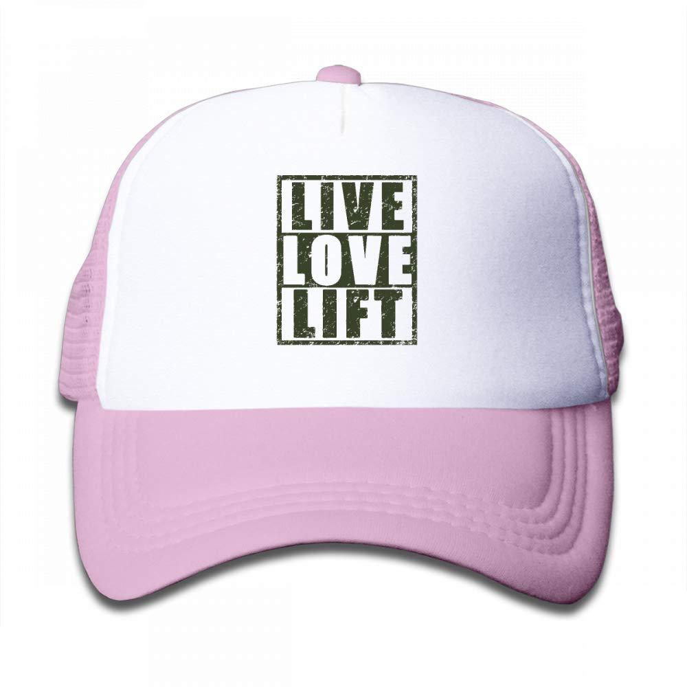 Kid's Boys Girls Live Love Lift Youth Mesh Baseball Cap Summer Adjustable Trucker Hat