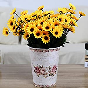 1 Bouquet 14 Heads Artificial Small Sunflower Home Wedding Christmas Decorations 3