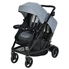 The UNO2DUO double stroller starts out as a single stroller and expands into a double stroller to grow with your family. With the included second seat, the UNO2DUO double stroller has 11 ways to ride. With an easy, one-hand fold, parent cup h...