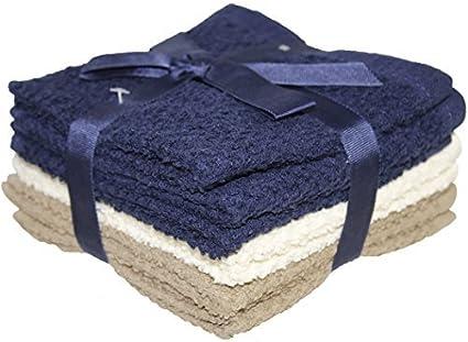 8 Pk Terry Popcorn Weave Washcloths 12quot X
