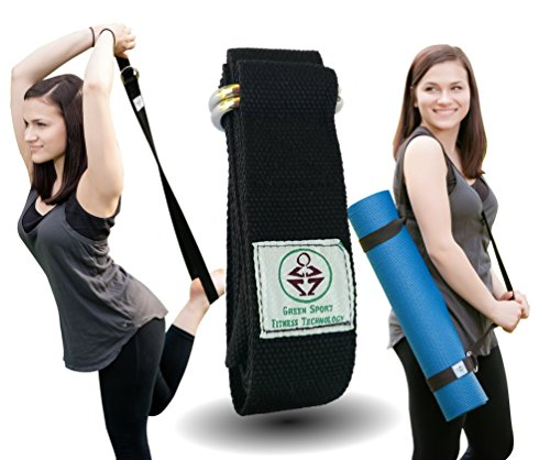✮ Perfect Yoga Strap ✮ 6 Feet ✮ Holds Your Yoga Mat In Place! ✮ Go Green with Eco Friedly Limitless Yoga Stretch Strap ✮ 100%