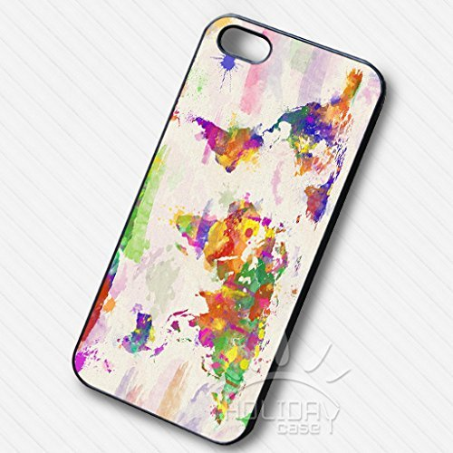 Colorful World Map pour Coque Iphone 6 et Coque Iphone 6s Case I8G6YS