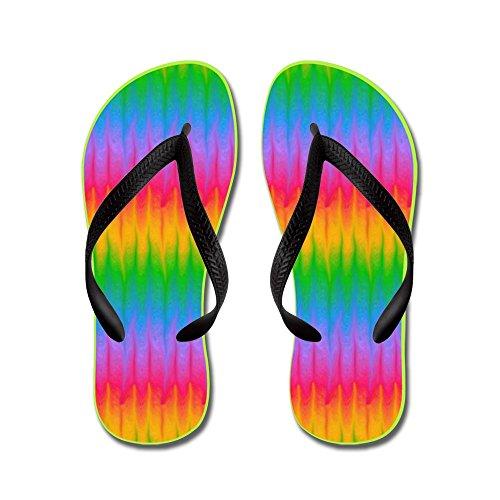 Cafepress Gay Lesbian Pride Rainbow - Chanclas, Sandalias Thong Divertidas, Sandalias De Playa Negras