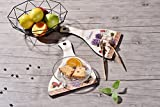 Wooden Decorative Trivet For Kitchen Or Dining Table,Lavender Pattern Coasters for Hot Dishes Pot Bowl Plate Pack of 2