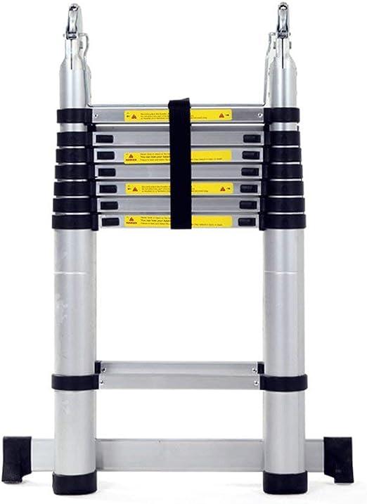 Escalera - Extensión Extensible De Aluminio Escalera Trapezoidal Plegable, Carga 330 Libras, En Línea con Las Normas En131 Y CE,2.2+2.2M: Amazon.es: Jardín