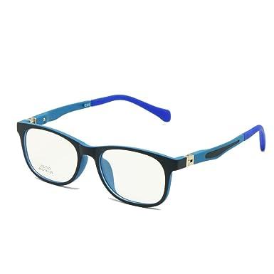 0c7ed4c8194 Kids Glasses TR90 Size 45 Safe Bendable with Spring Hinge Flexible Optical  Frame Boys Girls Children Eyeglasses Plano Lenses  Amazon.co.uk  Clothing