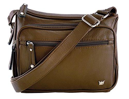 Purse King Magnum Concealed Carry Handbag (Dark Brown)