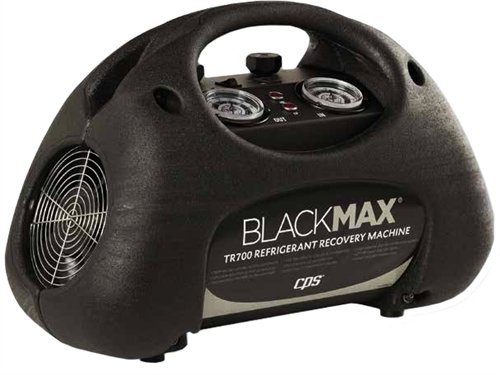 (CPS BLACKMAX TR700 Premium Series Twin Cylinder Refrigerant Recovery Machine, with LP Switch and Dual Fan Cooling System, 115V/60Hz )