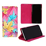 Dsas Leatherate Cover for LG X Power (LEAF-PINK)