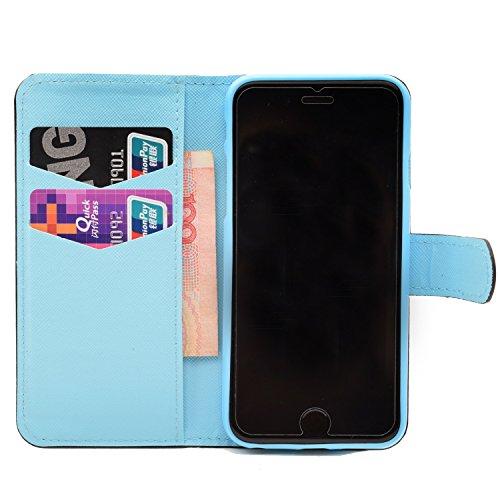 Voguecase® Pour Apple iPhone 6 Plus/6s Plus 5,5 Coque, Étui en cuir synthétique chic avec fonction support pratique pour Apple iPhone 6 Plus/6s Plus 5,5 (Fleur de pêche-Noir)de Gratuit stylet l'écran