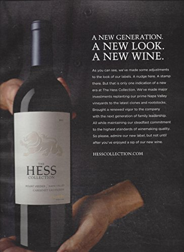 MAGAZINE ADVERTISEMENT For 2011 Hess Collection Napa Valley Wine