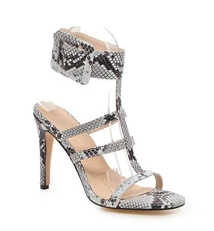 8eca6a2b4a84 GLTER Women Fashion Sandals 2019 Summer New Short Hollow High-Heeled Roman  Shoes Super Large