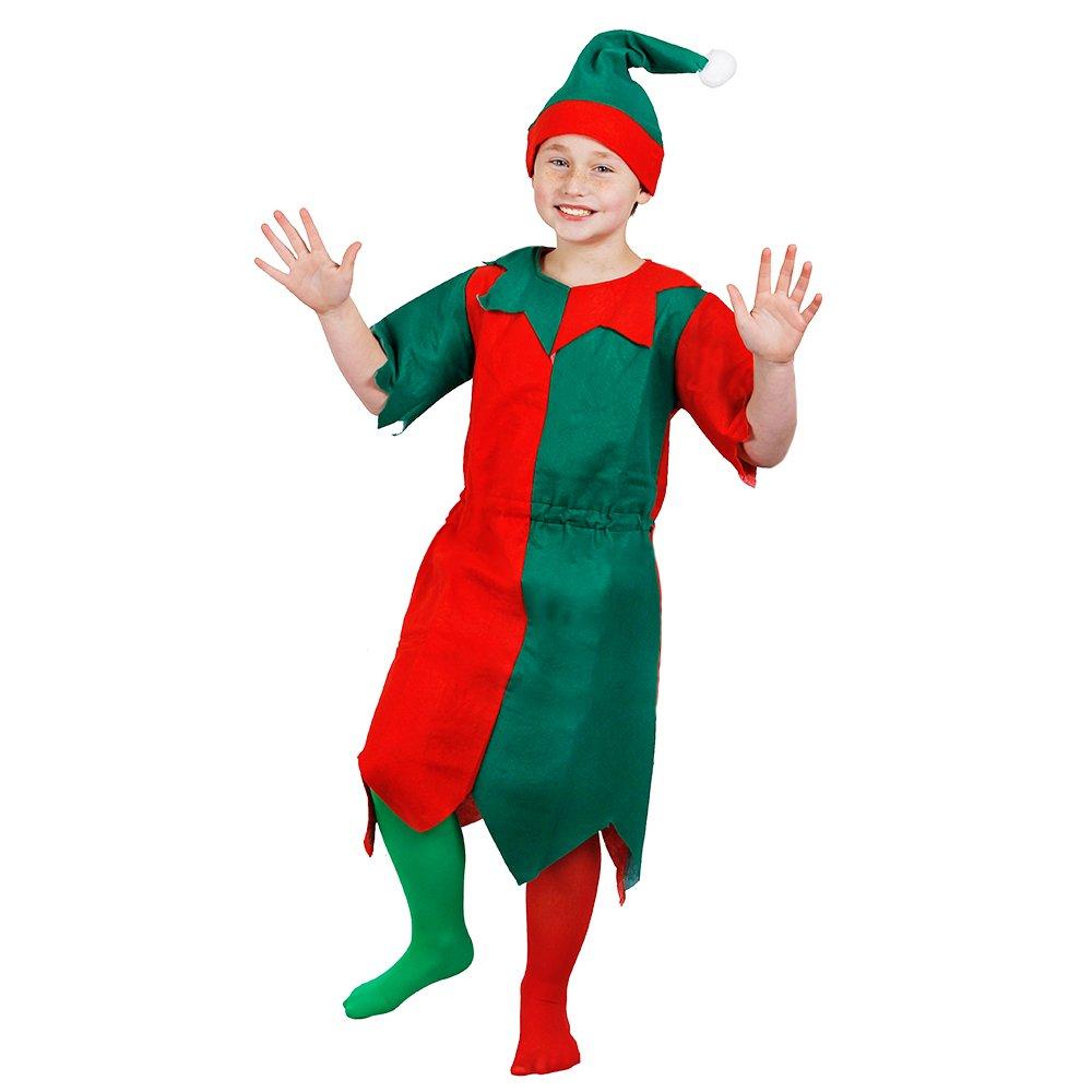 I Love Fancy Dress ilfd7009s del niño verde y rojo Unisex elfo con ...