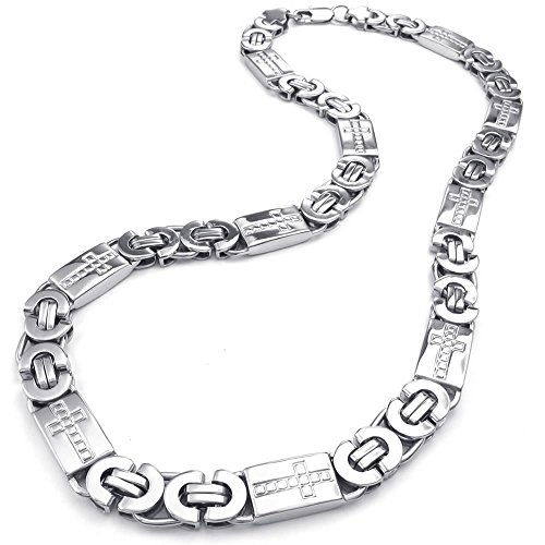 KONOV Stainless Steel Necklace Silver