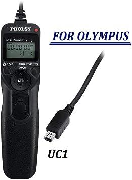PHOLSY O6 Disparador a Distancia con Temporizador Timer Disparador Remoto y Interval/ómetro Digital para Olympus C/ámaras Reemplazar Olympus RM-UC1 Mando a Distancia