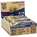 Don't Go Nuts Nut-Free Organic Snack Bars, Blueberry Blast, Chewy Granola Bar with Blueberries, 12 Count