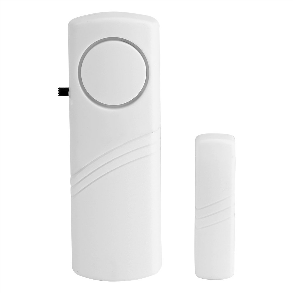 GLOGLOW Wireless Alert Magnetic Sensor Alarm Unit Entry Security Alarm System Home Door Window Security Devices