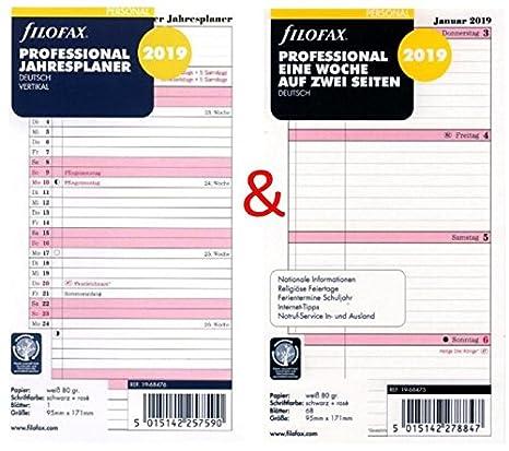 Calendario Settimane Anno 2019.Filofax Personale Inserto Per Calendario Set Professionale
