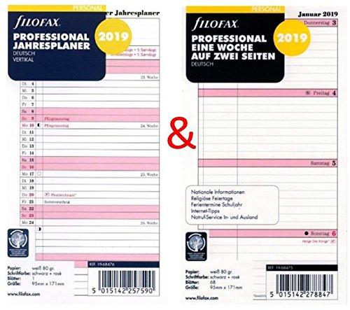 Filofax - Calendario (Set Personal: Professional una semana ...